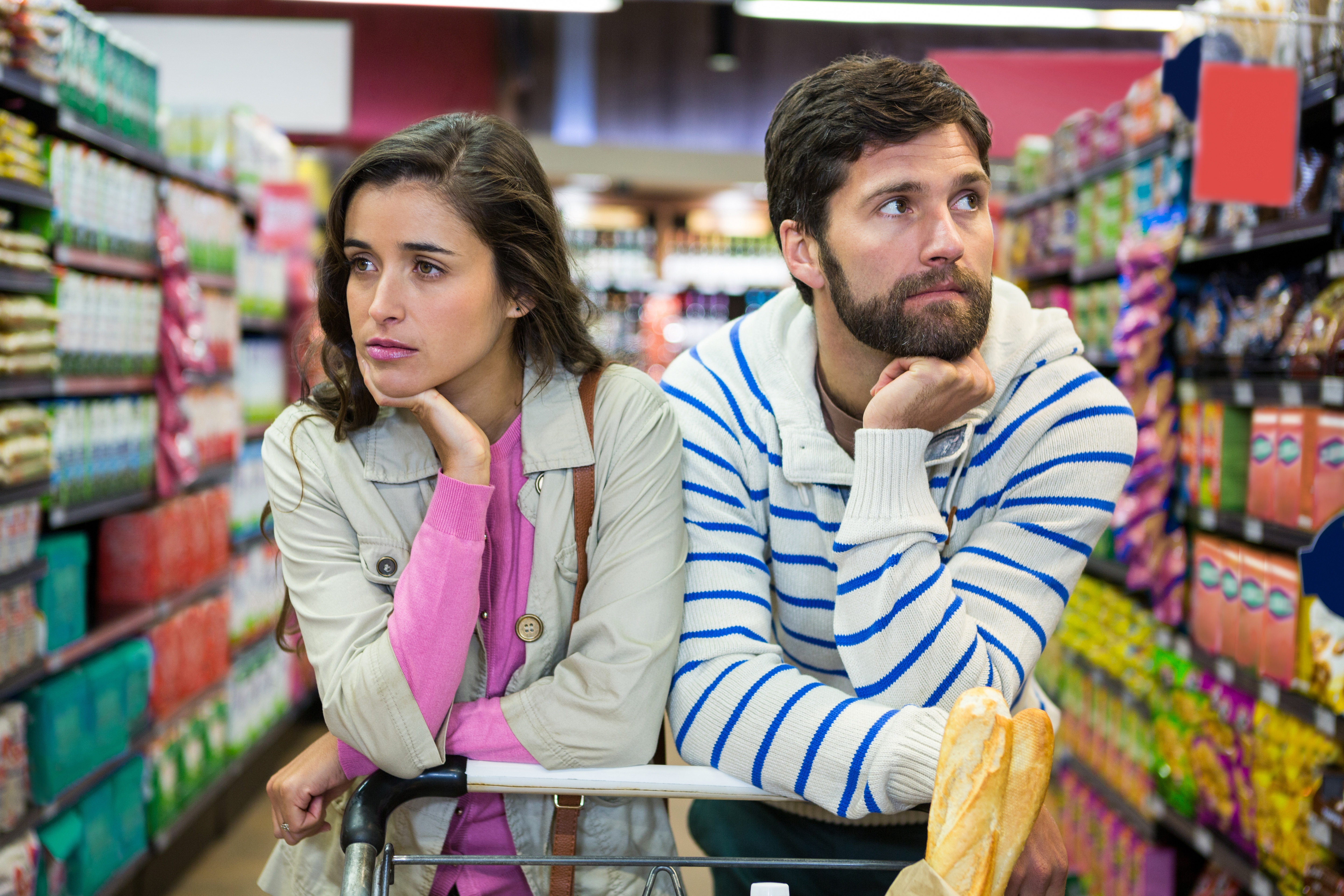Man and Woman at supermarket- JConnelly blog- Don't Slip into the Comfort of Conformity