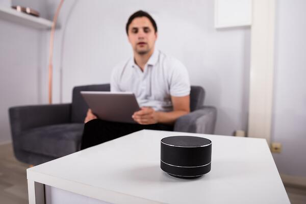 Man talking to Alexa- JConnelly blog- PR Industry and AI