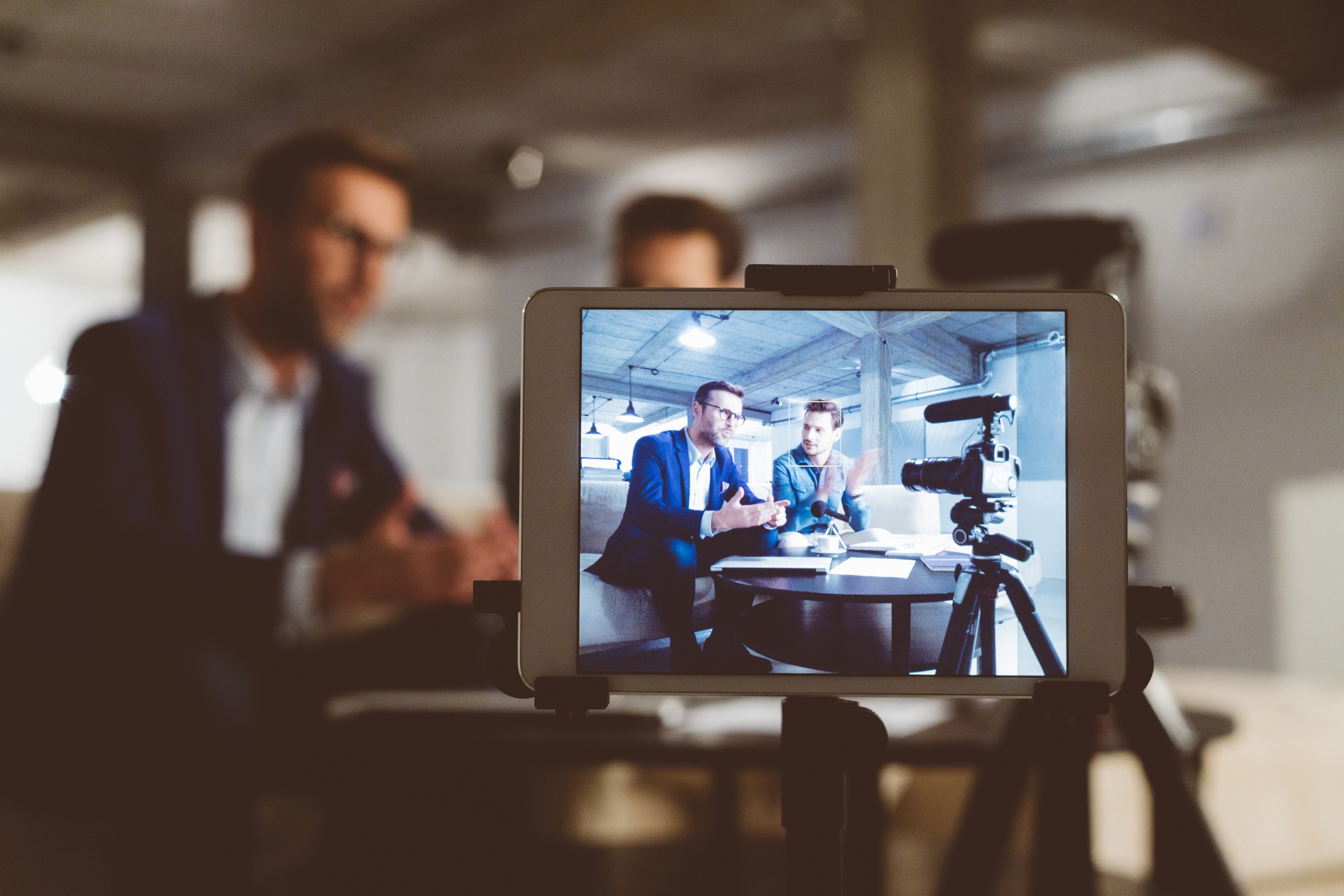 Men on camera- JConnelly blog- How to promote your content on social media