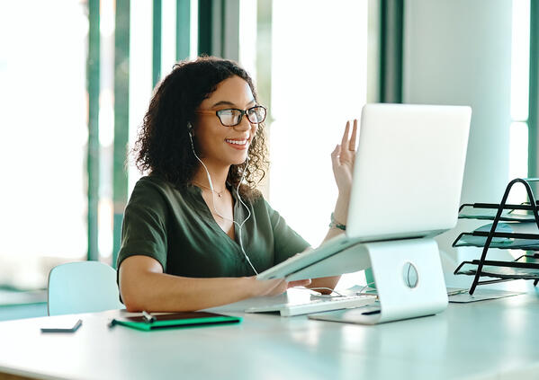 Woman on Video Conference- JConnelly blog- How to Find Intimacy in a Time of Social Distancing